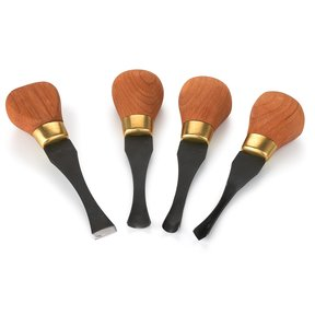 4 pc Carving Premium Wide Palm Handled Set