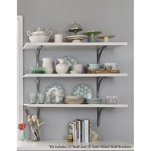 "View a Larger Image of Premium Wood Shelf Kit 48"" W x 16"" D, White"