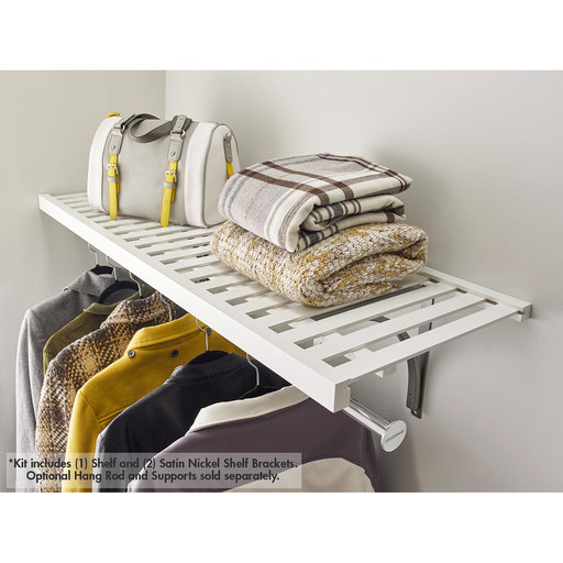 """View a Larger Image of Premium Wood Ventilated Shelf Kit 48"""" W x 16"""" D, White"""