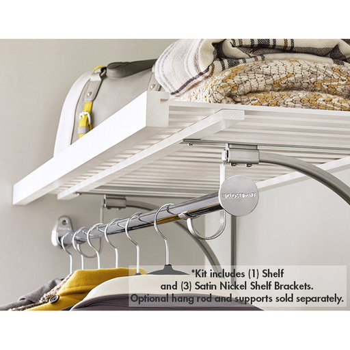 """View a Larger Image of Premium Wood Ventilated Shelf Kit 72"""" W x 16"""" D, White"""