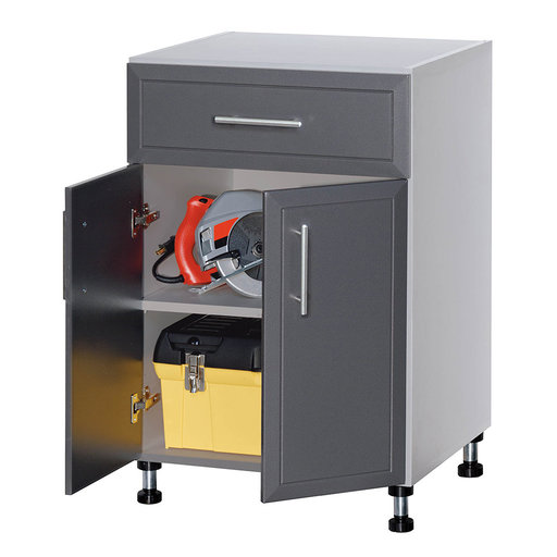 View a Larger Image of ProGarage 2-Door Storage Cabinet, Gray