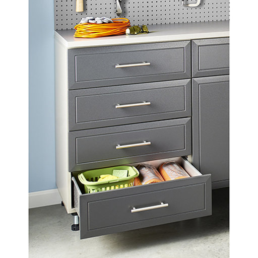 View a Larger Image of ProGarage 4-Drawer Storage Cabinet, Gray