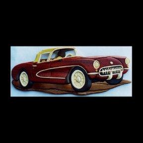'56 Corvette Intarsia Pattern