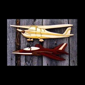 Airplanes Intarsia Pattern