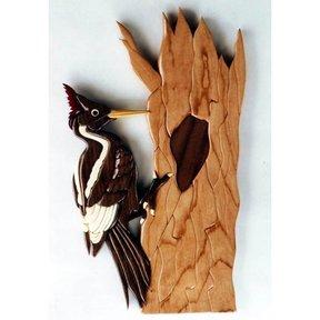 Ivory-Billed Woodpecker Intarsia Pattern
