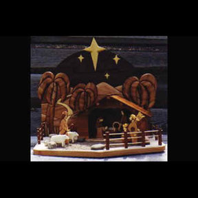 Nativity Scene Intarsia Pattern