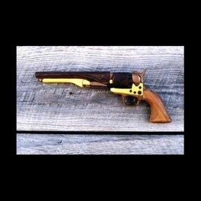 Navy Steel Revolver Intarsia Pattern