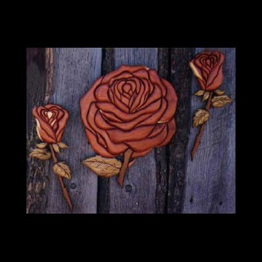 View a Larger Image of Roses Intarsia Pattern