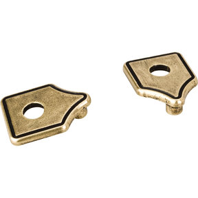 Pull Escutcheon for use with 155-96 1092 1094 and 910-96   Distressed Antique Brass