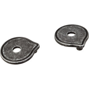 Pull Escutcheon for use with 527   Distressed Antique Silver