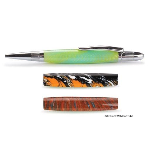 View a Larger Image of Pulsar Twist Ballpoint Pen Kit - Chrome