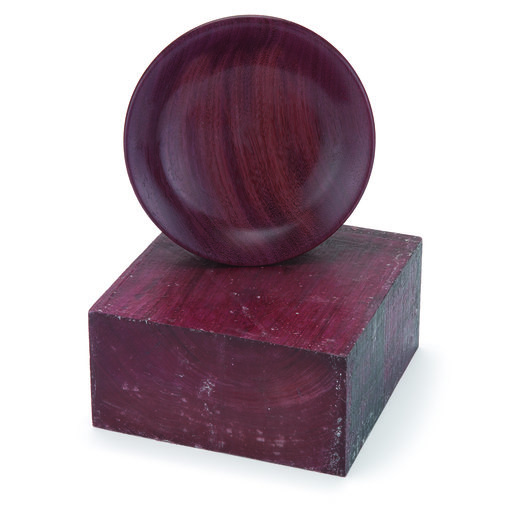 """View a Larger Image of Purpleheart 3"""" x 6"""" x 6"""" Wood Turning Stock"""
