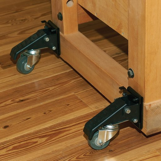 View a Larger Image of Quick Release Caster Plate - 4 Pack