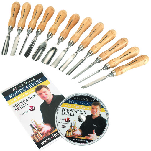 View a Larger Image of Carving Tool Full Size Set 12 piece