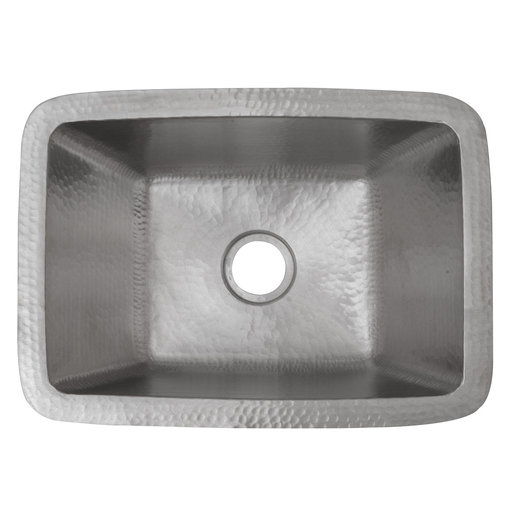 """View a Larger Image of Rectangle Copper Bar Sink in Nickel w/ 2"""" Drain Size"""