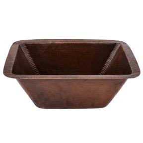"Rectangle Copper Bar Sink w/ 2"" Drain Size"