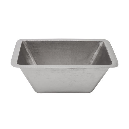 """View a Larger Image of Rectangle Copper Prep Sink in Nickel w/ 3.5"""" Drain Size"""