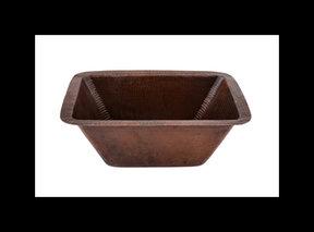 "Rectangle Copper Prep Sink w/ 3.5"" Drain Size"
