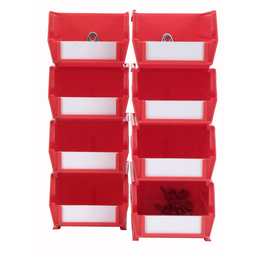 View a Larger Image of 4pk each - Small & Medium Red Hanging Bin & BinClip Kits