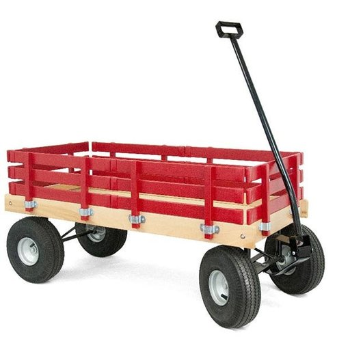 View a Larger Image of Red Loadmaster Wagon - Amish Made
