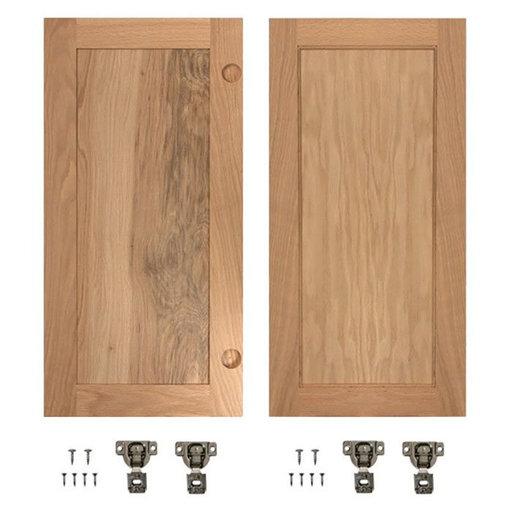 View a Larger Image of Red Oak Flat Panel Accessory Doors for 32 in. InvisiDoor Bookcase Door