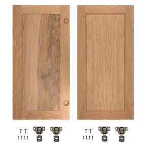 Red Oak Flat Panel Accessory Doors for 32 in. InvisiDoor Bookcase Door