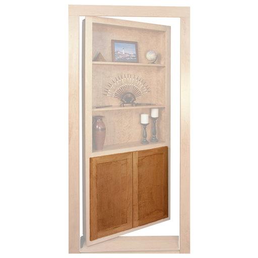 View a Larger Image of Red Oak Flat Panel Accessory Doors for 36 in. InvisiDoor Bookcase Door
