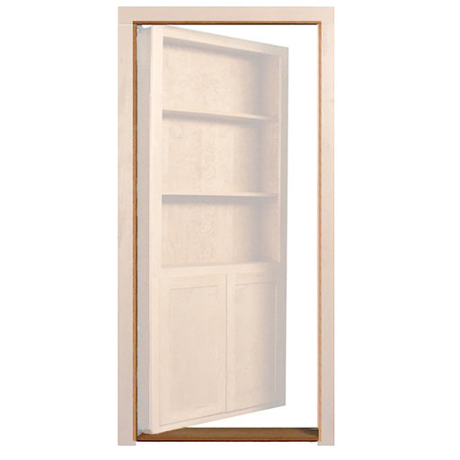 View a Larger Image of Red Oak Outswing Jam/Threshold Accessory for 32 in. or 36 in. InvisiDoor Bookcase Door
