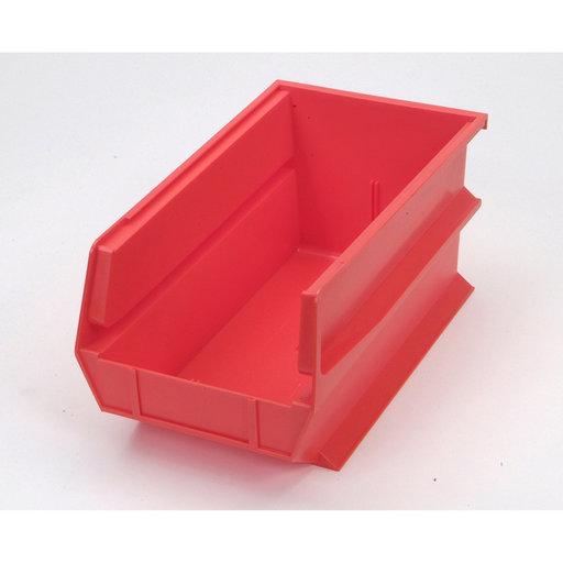 View a Larger Image of Red Stacking, Hanging, Interlocking Polypropylene Bins, 6 CT