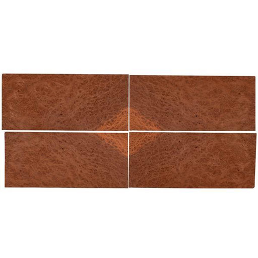 """View a Larger Image of Redwood Burl 8"""" x 18"""" 4 pc Pack Sequence Matched Wood Veneer"""