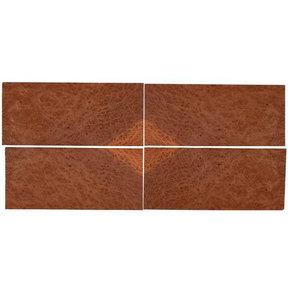 "Redwood Burl Sequence Matched Wood Veneer - 8"" x 18"" - 4 Piece"
