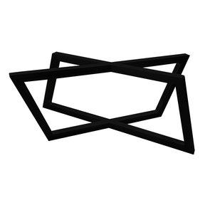 "Rhombus Slab Leg Set 15.5"" High Black"