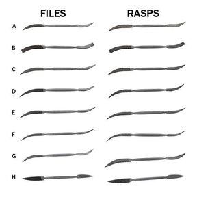 Riffler Files & Rasps, Complete Set of 16 - Best Value