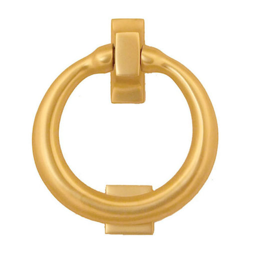 View a Larger Image of Ring Door Knocker - Brass