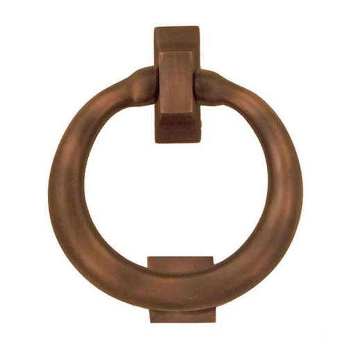 View a Larger Image of Ring Door Knocker - Oiled Bronze