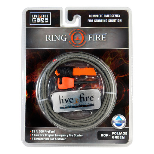 View a Larger Image of  Ring O Fire FOLIAGEGREEN Paracord