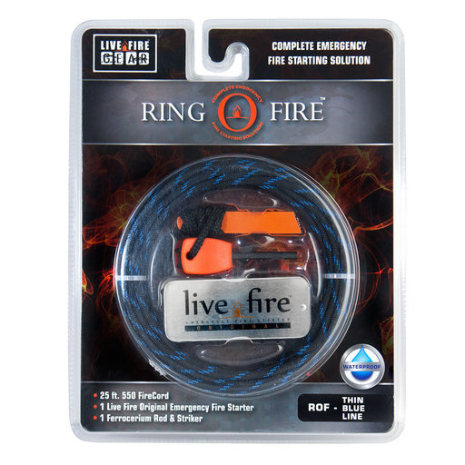 View a Larger Image of  Ring O Fire THINBLUELINE Paracord
