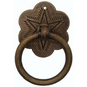 Ring Star Pull, Brass Oxide