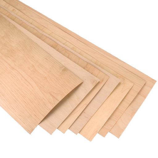 "View a Larger Image of Rock Hard Maple 12"" x 48"" 7 pc Skateboard Wood Veneer, Longboard Style"