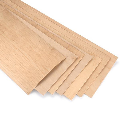 """View a Larger Image of Rock Hard Maple - Skateboard Wood Veneer Pack - 9-1/2"""" x 35"""" - 7 Piece"""