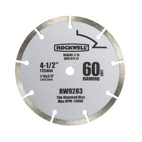 """4-1/2""""  Compact Diamond Circular Saw Blade, Model RW9283"""