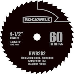 "4-1/2""  Compact HSS Circular Saw Blade, Model RW9282"