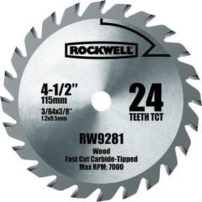 """4-1/2"""" Compact TCT Circular Saw Blade, Model RW9281"""