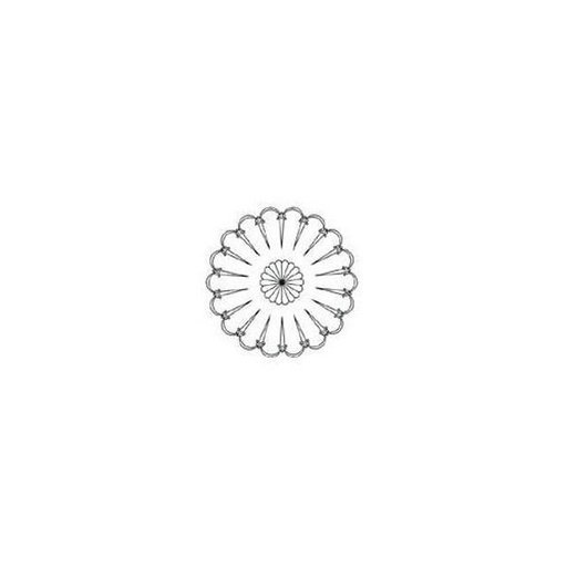 View a Larger Image of Rosette Template, Sm Spanish F  - CMT Part: RCS-802