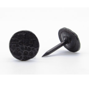 """Round 5/8"""" Hammered Clavo Decorative Nail, 4-Pack, Black Oxide"""