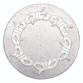 Round Knob with Barbed Wire, Satin Nickel