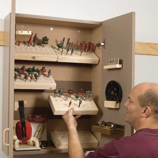View a Larger Image of Router Cabinet - Downloadable Plan