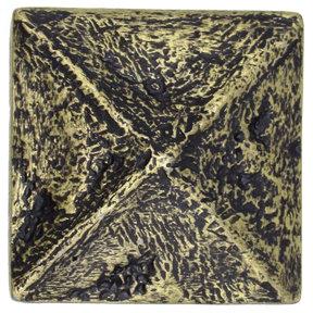 Rustic Pyramid Knob Brass Oxide