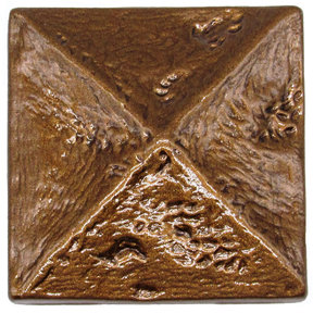 Rustic Pyramid Knob Lux Bronze