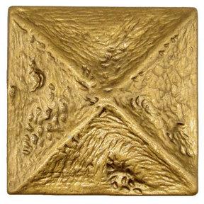 Rustic Pyramid Knob Lux Gold